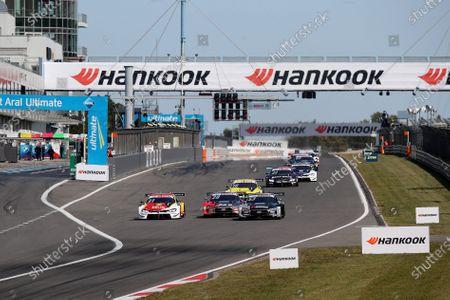 Sheldon van der Linde (NLD) (BMW Team RBM) , Loic Duval (FRA) (Audi Sport Team Phoenix)  and Jamie Green (GBR) (Audi Sport Team Rosberg)