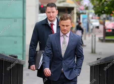 Carl Frampton pictured with John Finucane MP as he heads into a High Court showdown with McGuigan in Belfast.Mr Frampton, 32, is suing Mr McGuigan, his wife Sandra McGuigan and Cyclone Promotions (UK) Ltd, claiming a failure to pay purse money from his bouts.