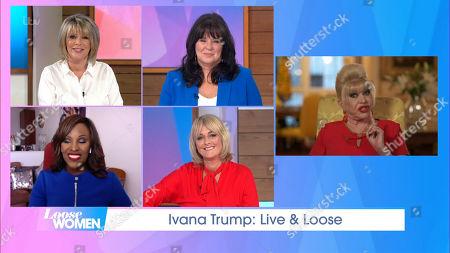 Ruth Langsford, Coleen Nolan, Kelle Bryan, Jane Moore and Ivana Trump