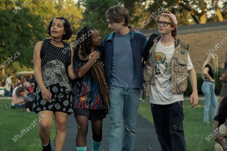 "Coral Pena as Cora Hernandez, Kara Young as Lola 'La' Haynes, Austin Abrams as Henry Page and C. J. Hoff as Mark 'Muz"" Patterson"