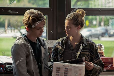 Stock Image of Austin Abrams as Henry Page and Lili Reinhart as Grace Town