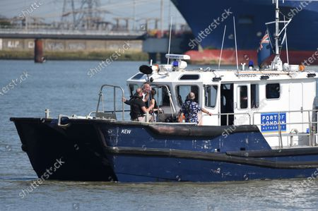 Editorial photo of Sir Tony Robinson TV show filming, River Thames, Gravesend, UK - 14 Sep 2020