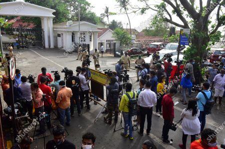 Media waiting for Kangana Ranaut outside Governor House at Walkeshwar, on September 13, 2020 in Mumbai, India.