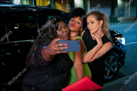 Gabourey Sidibe as Dawn, Janelle Monae as Eden and Lily Cowles as Sarah