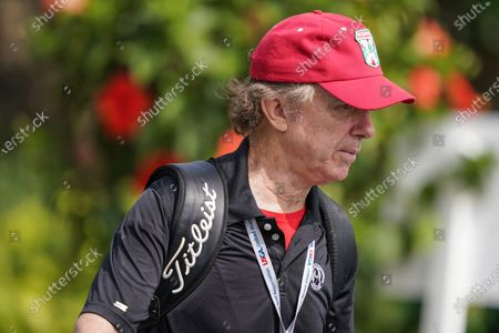 """Stock Photo of Caddyshack"""" actor Michael O'Keefe walks the grounds before the U.S. Open Championship golf tournament at Winged Foot Golf Club, in Mamaroneck, N.Y"""