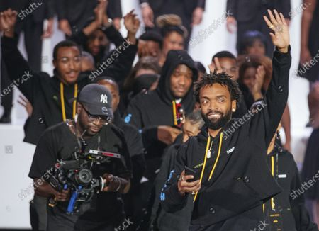 Designer Kerby Jean-Raymond at the Pyer Moss collection presentation during Fashion Week in New York. The Council of Fashion Designers of America (CFDA) announced Jean-Raymond as American Menswear Designer of the Year for the 2020 CFDA Fashion Awards