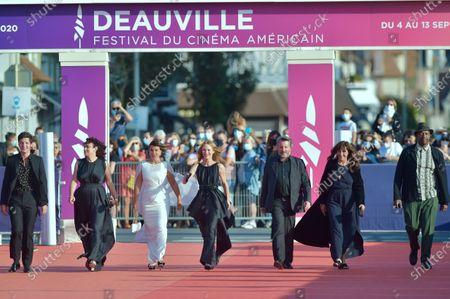 Stock Photo of Zita Hanrot, Vincent Lacoste, Delphine Horvilleur, Mounia Meddour, Vanessa Paradis, Bruno Podalydes, Oxmo Puccino and Yann Gonzalez