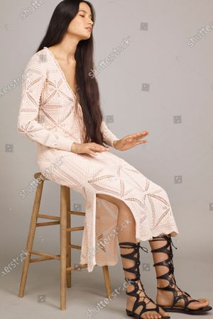 A Model wearing an outfit from the Womens Ready to wear, pret a porter, collections, summer 2021, original creation, during the Womenswear Fashion Week in New York, from the house of Rebecca Taylor