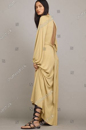Stock Picture of A Model wearing an outfit from the Womens Ready to wear, pret a porter, collections, summer 2021, original creation, during the Womenswear Fashion Week in New York, from the house of Rebecca Taylor