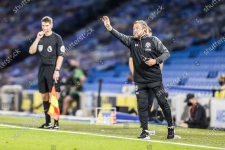 Stock Picture of Billy Reid, Assistant Head Coach of Brighton & Hove Albion FC Brighton and Hove Albion and Chelsea at the American Express Community Stadium, Brighton and Hove