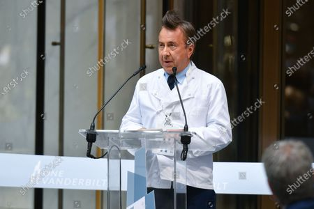 Chef Daniel Boulud attends the ribbon cutting ceremony for the opening of One Vanderbilt skyscraper in midtown Manhattan.