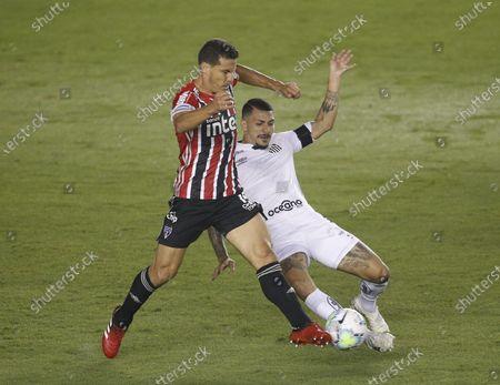 Editorial photo of Santos v Sao Paulo FC, Campeonato Brasileiro football, Vila Belmiro Stadium, Santos, Brazil - 12 Sep 2020