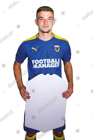 AFC Wimbledon attacker David Fisher (28) profile picture for AFC Wimbledon at Plough Lane, London