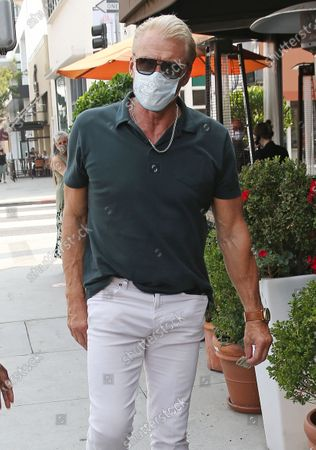 Stock Picture of Dolph Lundgren is seen dining out in Beverly Hills