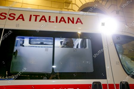 Editorial picture of Aurelio De Laurentiis returns home by ambulance, Rome, Italy - 10 Sep 2020