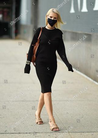 Kate Davidson Hudson outside MONSE FW 2020 Shoppable Presentation.