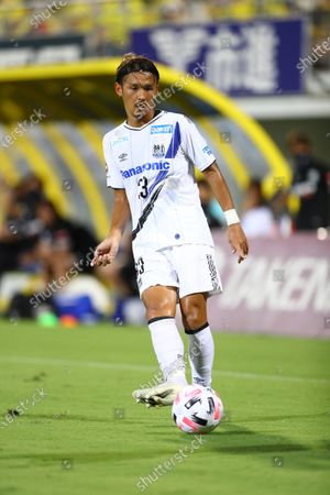 Takashi Usami of Gamba Osaka during the J.League J1 soccer match between Kashiwa Reysol 3-0 Gamba Osaka at at Sankyo Frontier Kashiwa Stadium in Chiba, Japan.