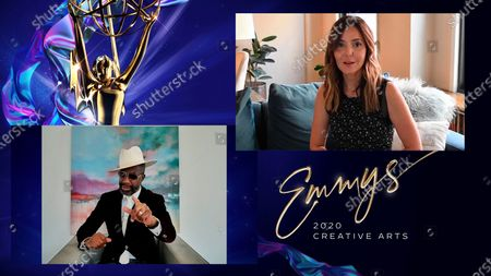 """Stock Photo of Smoove presents the award for Outstanding Structured Reality Program to Jordana Hochman for """"Queer Eye"""" during the first night of the 2020 Creative Arts Emmy Awards, streamed live on Emmys.com on"""
