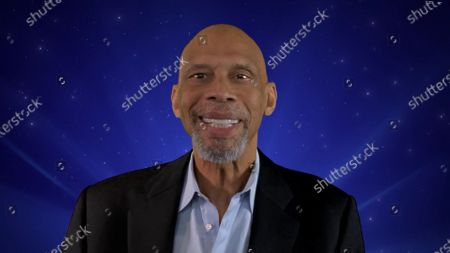 Stock Picture of Kareem Abdul-Jabbar presents the Hollywood 4 BLM segment during the first night of the 2020 Creative Arts Emmy Awards, streamed live on Emmys.com on