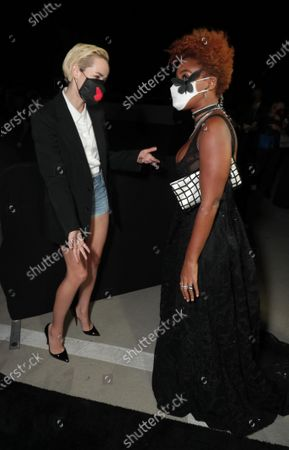 Jena Malone and Janelle Monae appear at the Antebellum Rooftop Cinematic Experience at The Grove on September 14, 2020