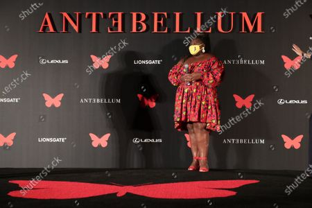 Gabourey Sidibe appears at the Antebellum Rooftop Cinematic Experience at The Grove on September 14, 2020