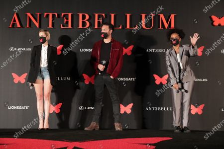 Stock Photo of Jena Malone, Jack Huston and Kiersey Clemons appear at the Antebellum Rooftop Cinematic Experience at The Grove on September 14, 2020