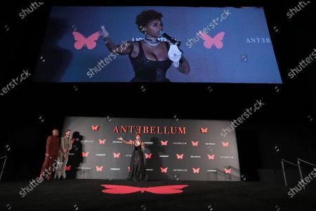 Janelle Monae appears at the Antebellum Rooftop Cinematic Experience at The Grove on September 14, 2020