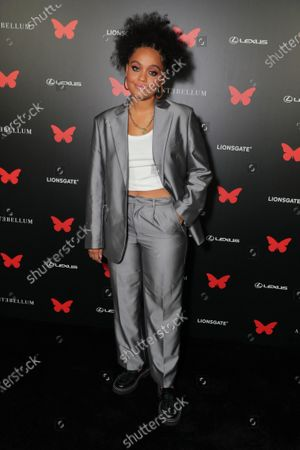 Kiersey Clemons appears at the Antebellum Rooftop Cinematic Experience at The Grove on September 14, 2020