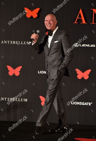 Stock Picture of Joe Drake - Lionsgate Motion Picture Group Chairman appears at the Antebellum Rooftop Cinematic Experience at The Grove on September 14, 2020