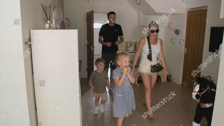 Greg and Billie Faiers with Nelly and Arthur.