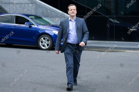 Stock Photo of Former MP Charlie Elphicke arrives at Southwark Crown Court to be sentenced after he was found guilty of three counts of sexual assault against two women .