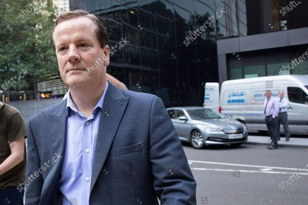 Stock Image of Former MP Charlie Elphicke arrives at Southwark Crown Court to be sentenced after he was found guilty of three counts of sexual assault against two women .