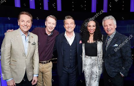 (L-R) Brian Conley, Andy Crane, Bradley Walsh, Michelle Ackerley and Jeff Banks