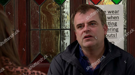 Coronation Street - Ep 10122 Monday 21st September 2020 - 2nd Ep Tracy McDonald is worried when Steve McDonald, as played by Simon Gregson, suggests that if Nick is selling his shares in Underworld he and Tracy should sell Streetcars and the florist to find Oliver's treatment.