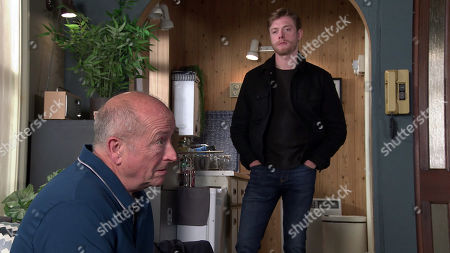 Coronation Street - Ep 10124 Wednesday 23rd September 2020 - 2nd Ep When Geoff Metcalfe, as played by Ian Bartholomew, comes into Adam Barlow's office asking for info on Yasmeen's case Daniel Osbourne, as played by Rob Mallard, can't help but berate him for using vulnerable sex workers.