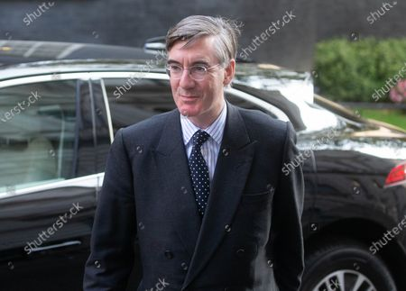 Jacob Rees-Mogg, Lord President of the Council, Leader of the House of Commons, arrives in Downing Street for the Cabinet meeting.