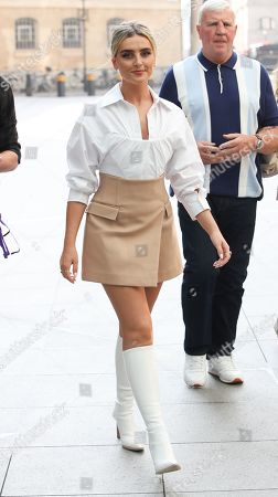 Stock Picture of Perrie Edwards walks over to Radio 1 ahead of their Live Lounge performance