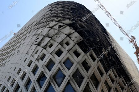 Editorial image of New fire erupts at a Zaha Hadid designed building in Beirut, Lebanon - 13 Sep 2020