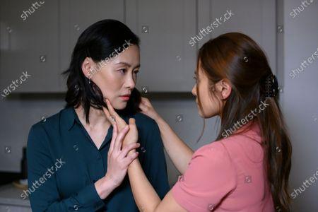 Vivian Wu as Dr. Lu Wang and Nadia Hatta as Mei Chen