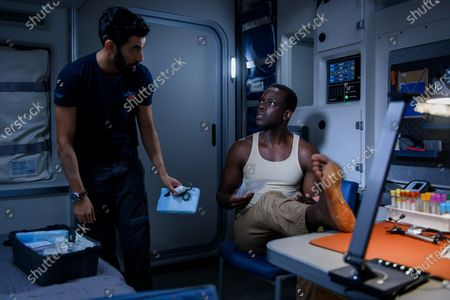 Stock Picture of Ray Panthaki as Ram Arya and Ato Essandoh as Dr. Kwesi Weisberg-Abban