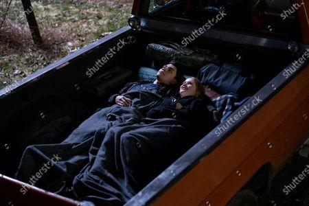Stock Picture of Adam Irigoyen as Isaac Rodriguez and Talitha Bateman as Alexis Logan