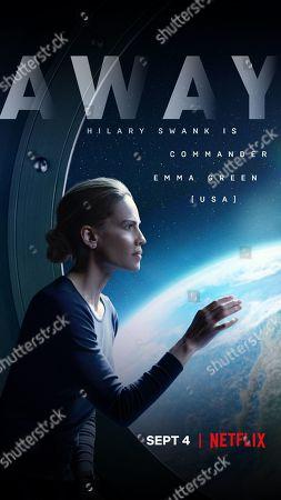 Stock Photo of Away (2020) Poster Art. Hilary Swank as Emma Green