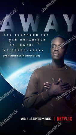 Away (2020) Poster Art. Ato Essandoh as Dr. Kwesi Weisberg-Abban