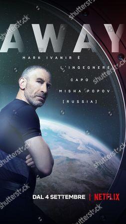Stock Image of Away (2020) Poster Art. Mark Ivanir as Misha Popov