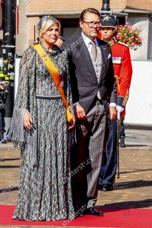 Princess Laurentien and Prince Constantijn arrive at the Grote Kerk on Prinsjesdag in the Grote Kerk. Prinsjesdag looks different than usual. Many of the ceremonial events are canceled and the public is not welcome in the city center of The Hague.