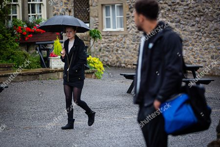 Emmerdale - Ep 8846 Friday 25th September 2020  Dawn Taylor's, as played by Olivia Bromley, upset when she sees Meena in full on flirt mode with Billy Fletcher, as played by Jay Kontzle.