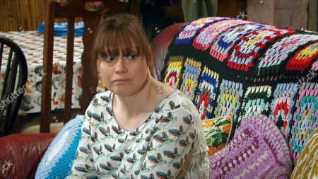 Emmerdale - Ep 8846 Friday 25th September 2020  Lydia Dingle, as played by Karen Blick, anticipates her upcoming Huntington's test results.