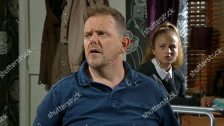 Stock Picture of Emmerdale - Ep 8841 Monday 21st September 2020 Dan Spencer, as played by Liam Fox, can't get over Amelia Spencer's, as played by Daisy Campbell, lies and fraudulent use of Al Grant's credit card. Al thanks them for finding his credit card.