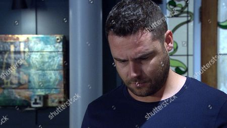 Emmerdale - Ep 8851 Thursday 1st October 2020. 2nd Ep Aaron Dingle, as played by Danny Miller, prepares to go on a kayaking session with Ben he opens a letter addressed to him and is left winded by its contents.