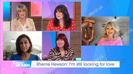 Stock Photo of Ruth Langsford, Coleen Nolan, Saira Khan, Janet Street-Porter, Sherrie Hewson